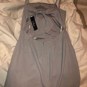 Lulus grey/sliver mini dress!